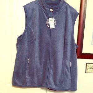 1x fleece zipper vest